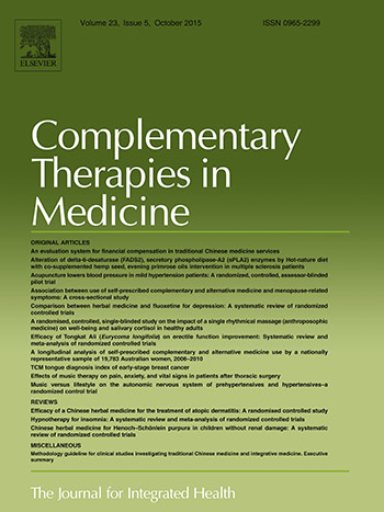 Cover Complementary Therapies Medicine